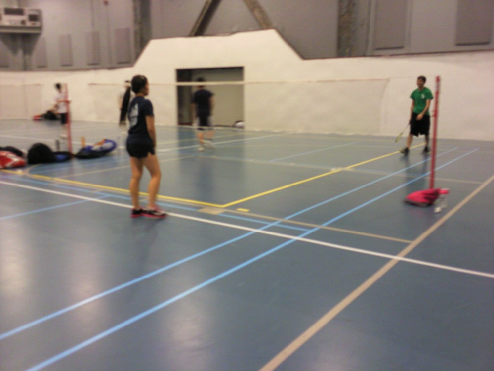 My roommate and I played badminton at the UIC Recreation Center!