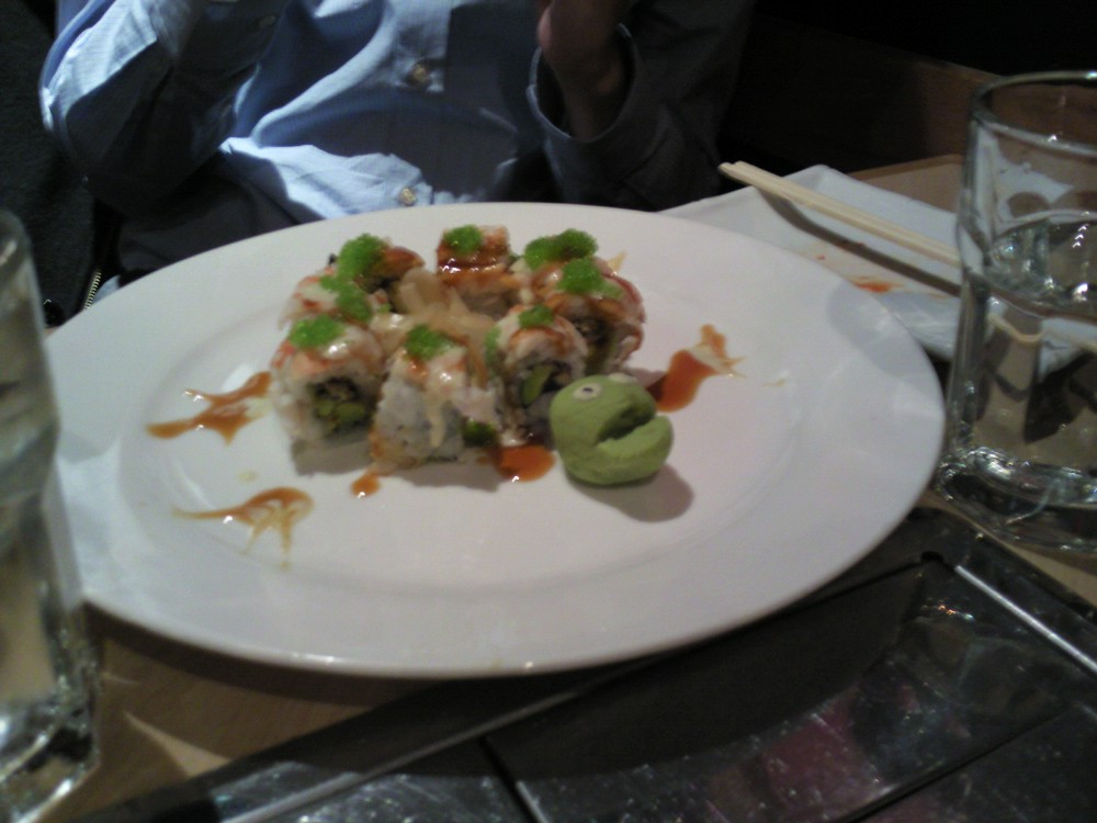 Kohan, located on Maxwell Street and conveniently next to my dorm (MRH), has an awesome roll called the Ninja Turtle.