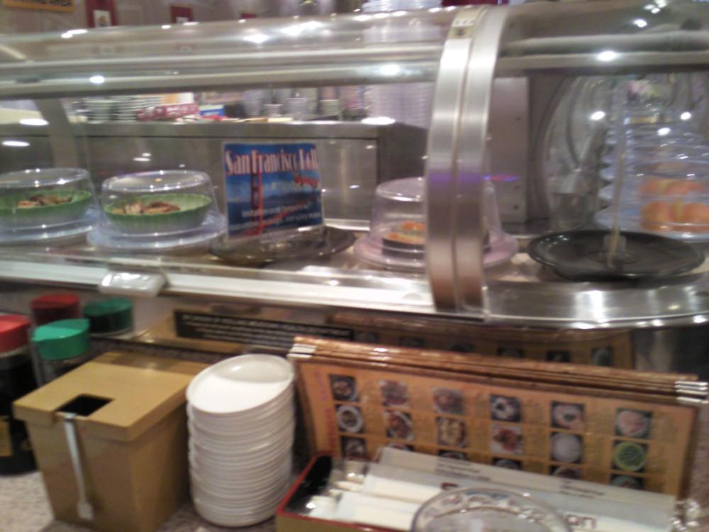 I like it when the sushi moves like a train