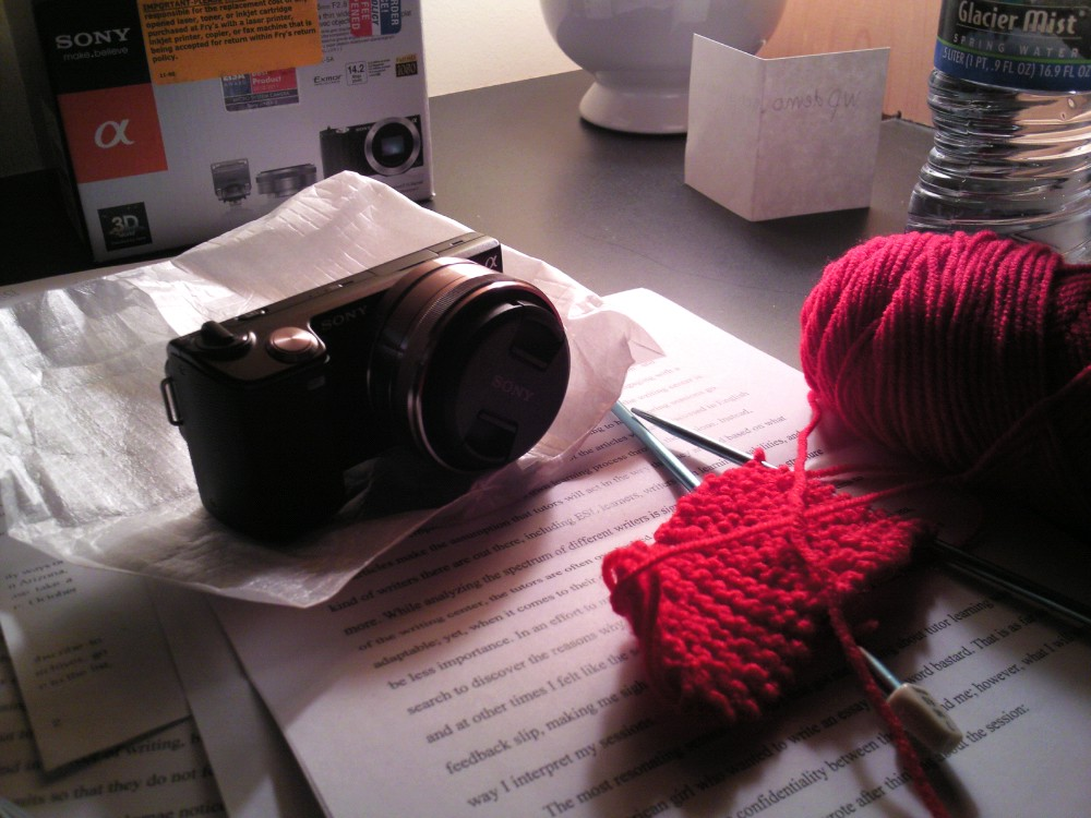 I bought a new camera on the last day of 2011!