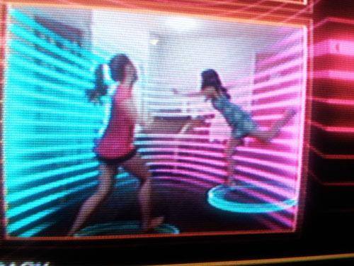 We like to kick around while we dance.