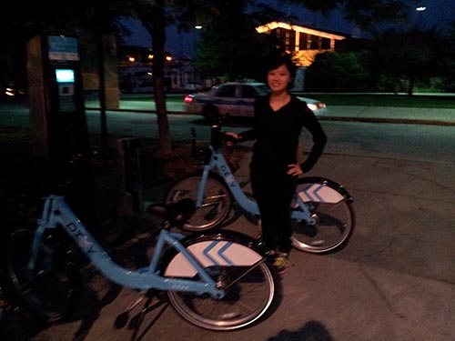 Milie and Divvy Bikes