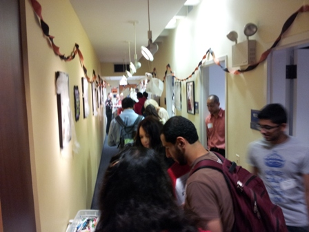 Honors College Student-Faculty Luncheon Line