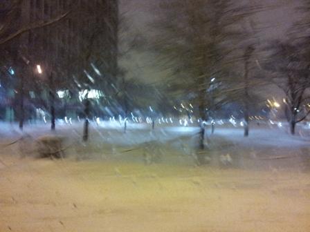 Snow Fall Blur